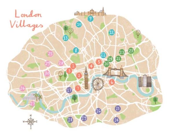 LondonVillagesmap